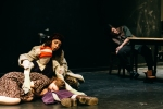 Allie Press, Beatrice, Caitlin Weaver, and Steve Barroga in The Bear Loves Honey.